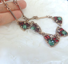 Vintage Green Red Necklace