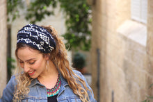 Blue Navy Wrap Headband