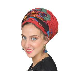 Soft Colorful Red Headscarf