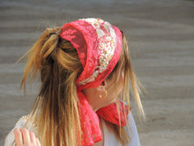 Fuchsia Lace Headband