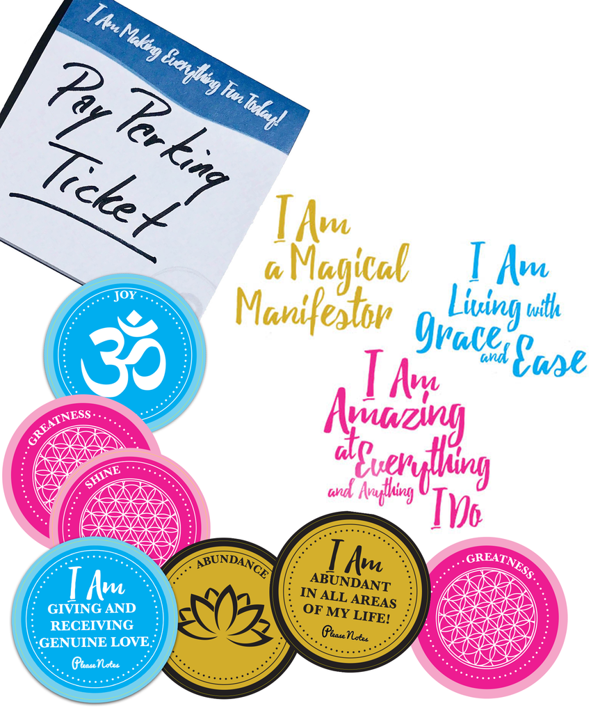 Affirmation-Filled Stationery, Stickers and Decals
