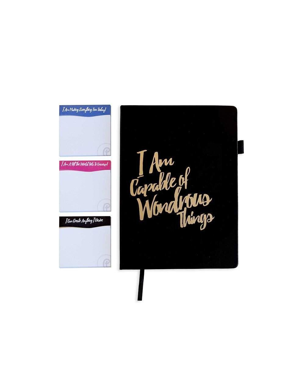 The Journal-Journal-PleaseNotes-PleaseNotes Guided Journal filled with affirmations and inspirational quotes from today's thought leaders. - I Am capable Journal - I am capable of wondrous things journal