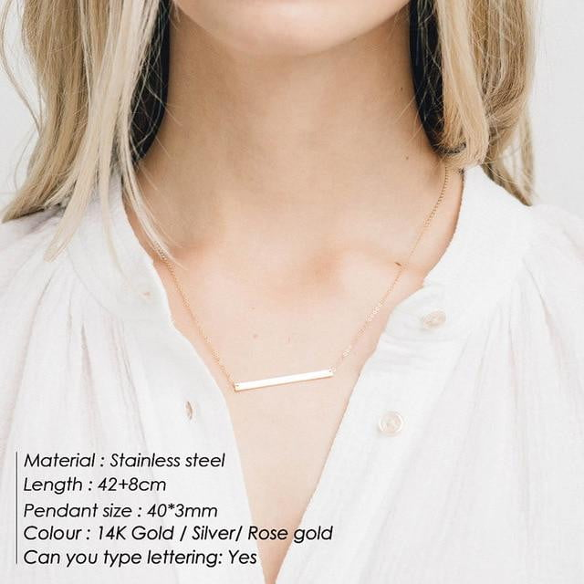 Stylish Simple Stainless Steel Korean Style Statement Necklace - klozetstyle.com