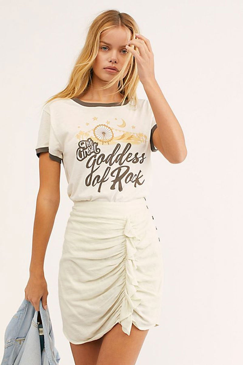 ,klozetstyle-com,O-Neck Short Sleeve graphic print t shirt boho casual summer tee