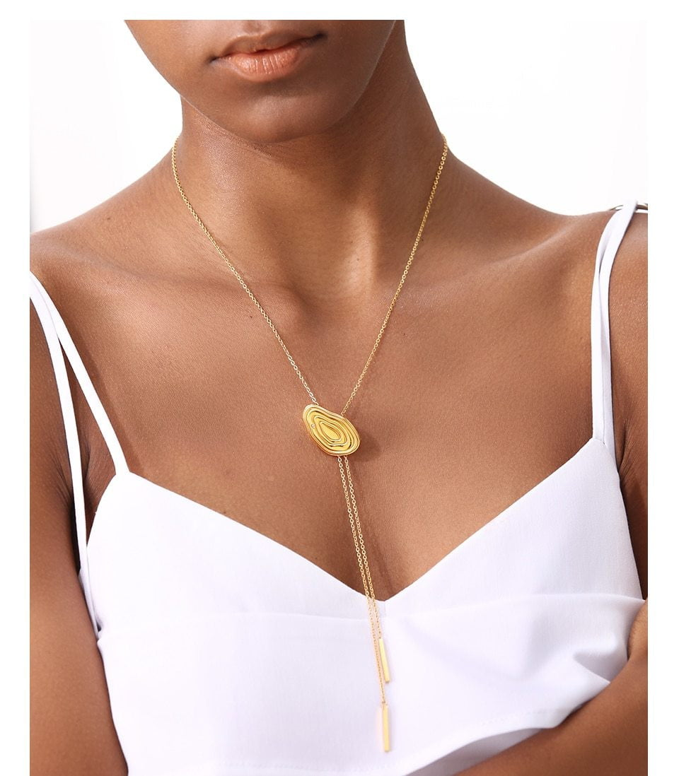 Years Choker Stainless Steel Long Chain Adjustable Necklace - klozetstyle.com