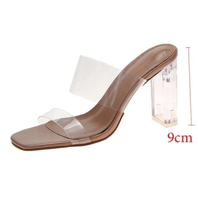 Transparent High Heels Wedding Sandal - klozetstyle.com
