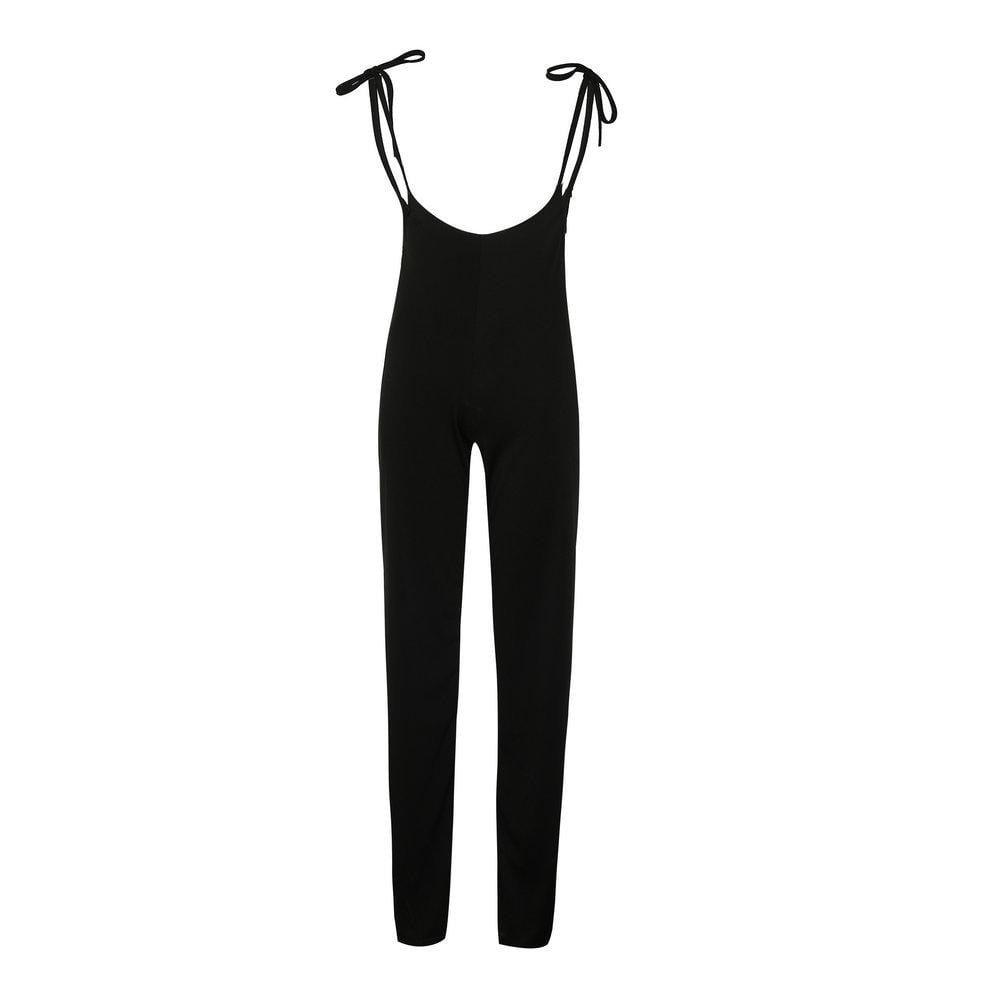 Off Shoulder Clubwear Sleeveless Party Solid Bandage High Waist Bownot Jumpsuits - klozetstyle.com