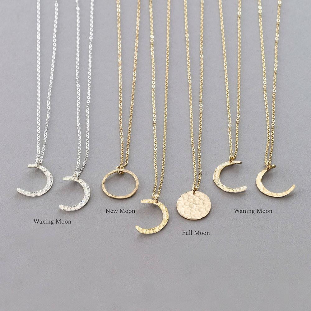 Korean style chain moon pendant stainless steel chocker necklace - klozetstyle.com