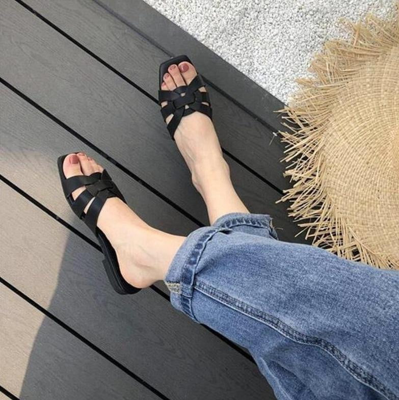 ,klozetstyle-com,Flip Flops Summer Slides Open Toe Flat Casual Leisure Flat Sandals