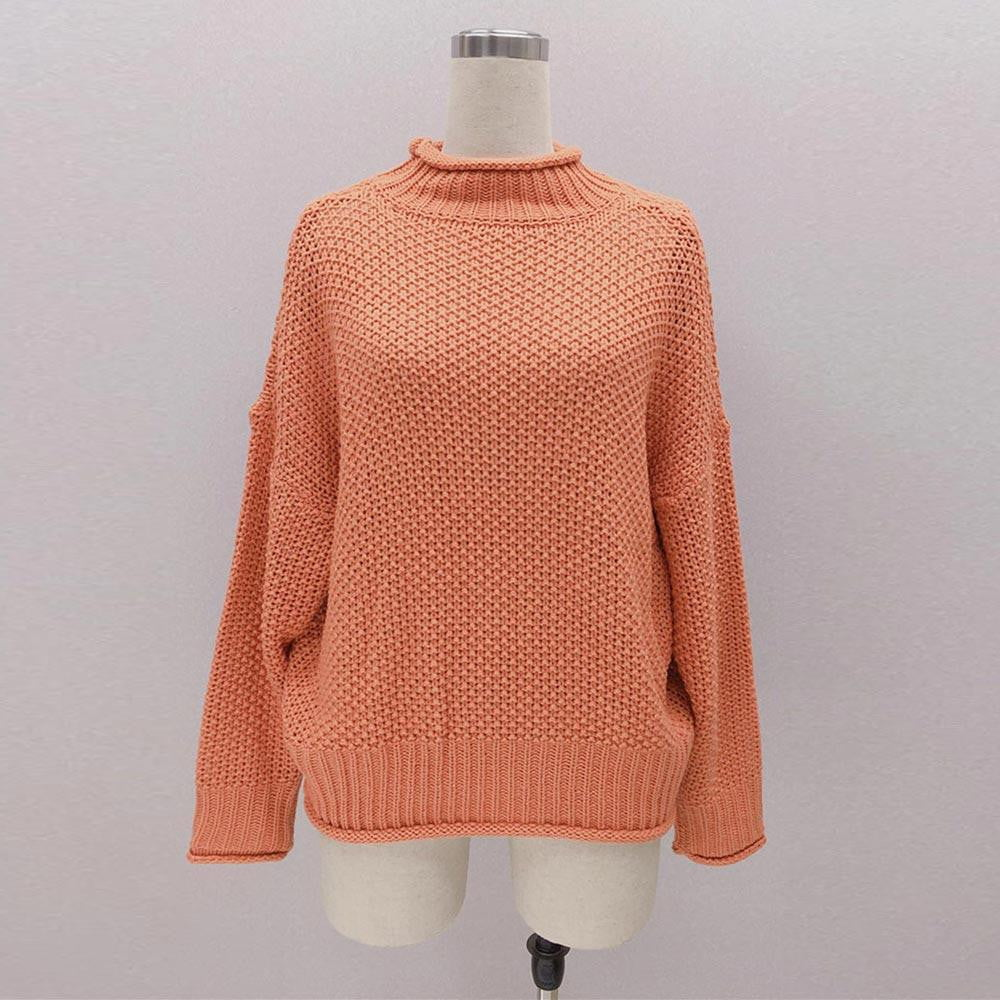 Autumn Winter Basic Pullover Long Sleeve Casual Knitted Streetwear Sweater - klozetstyle.com