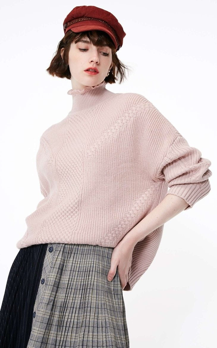 Autumn new twisted stitching ruffled sweater - klozetstyle.com