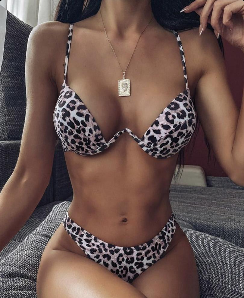 Klozetstyle High Cut Push Up Bikini Swimsuit - klozetstyle.com