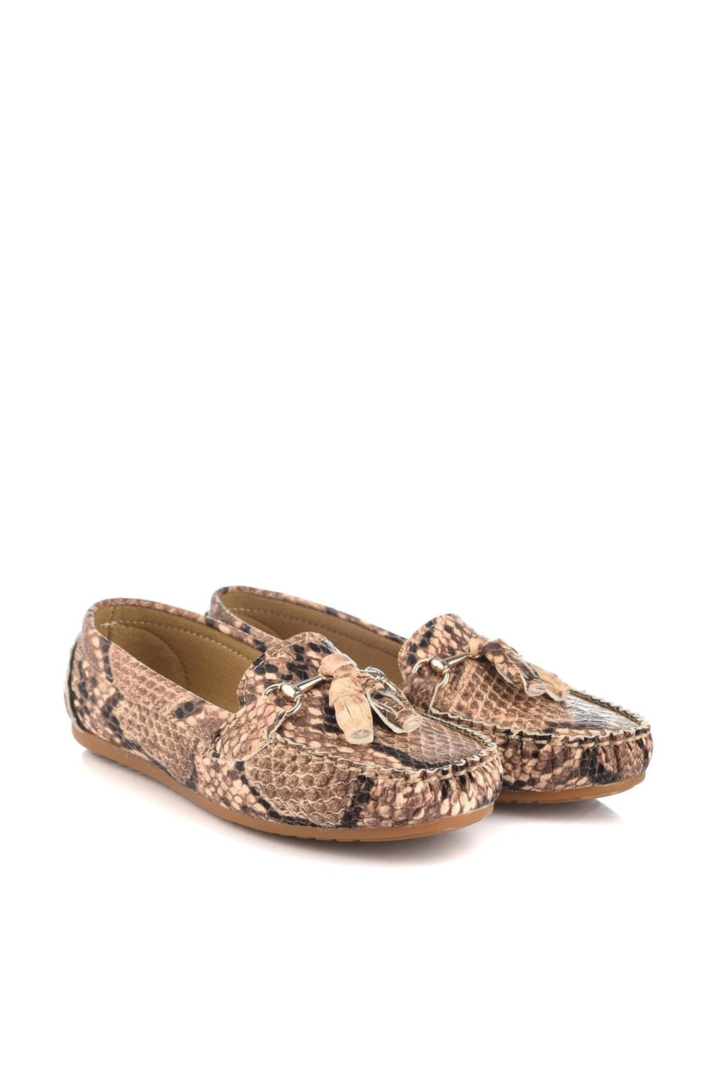 Snake Pattern Loafer Shoes - klozetstyle.com