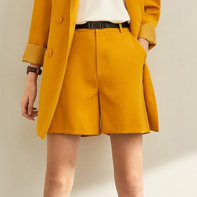 ,klozetstyle-com,Spring Minimal Western Style Outerwear Pants Shorts Professional Autumn leisure Suit