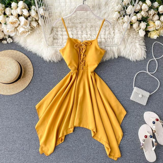 A-Line Short Summer Sundress - klozetstyle.com