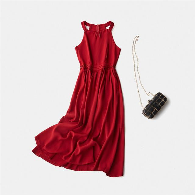 ,klozetstyle-com,A-line Sleeveless Midi Dress