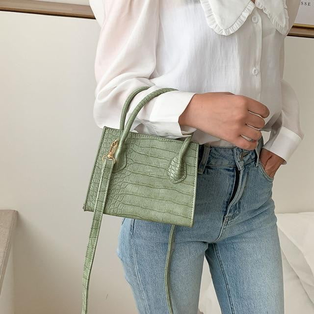 Klozetstyle Crocodile Pattern PU Leather Cross-body Bag - klozetstyle.com