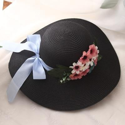 Double Flowers Straw Hat - klozetstyle.com