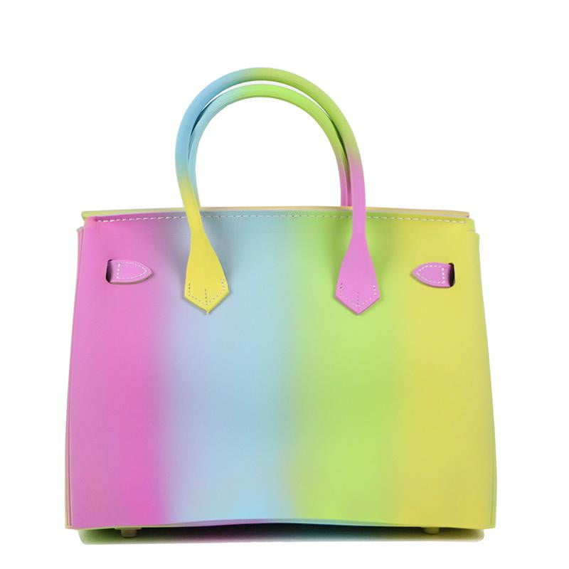 PVC Silicone jelly luxury handbag with scarf - klozetstyle.com