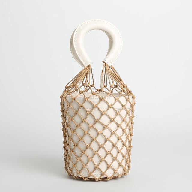 Hollow bao bao net bucket handbag - klozetstyle.com
