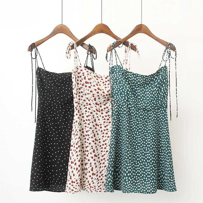 Fit And Flare Floral Print Cami Dress - klozetstyle.com