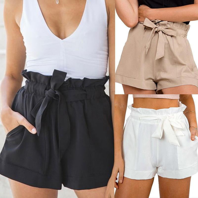 High Waist Tie Casual Shorts - klozetstyle.com