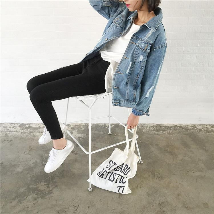 Basic Coat Denim Jacket - klozetstyle.com