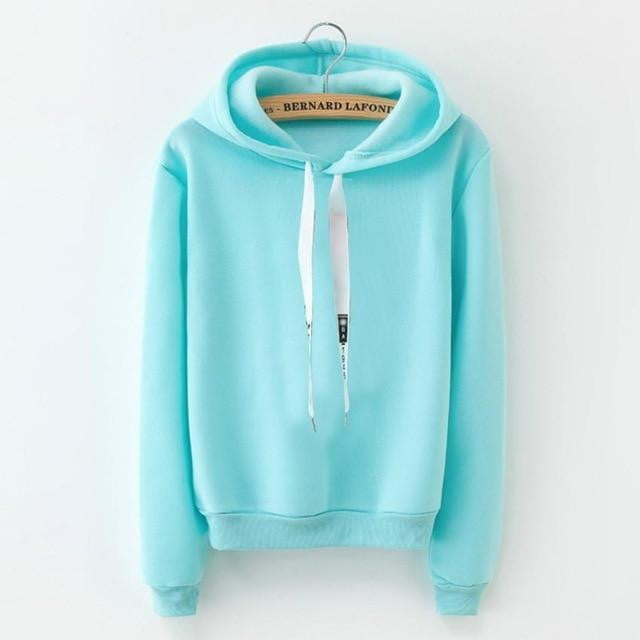 Solid Color Hooded Coat - klozetstyle.com