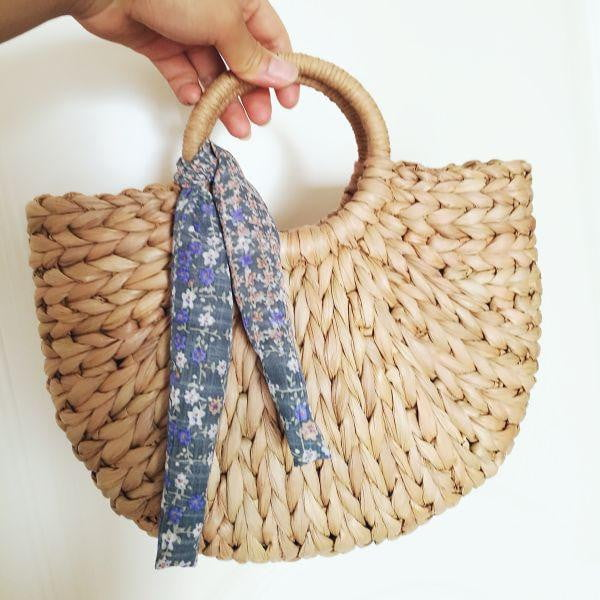 The Semicircle Corn Skin Art Beach Bag - klozetstyle.com