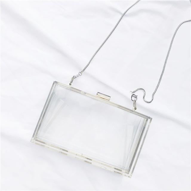 Acrylic Transparent Luxury Chain Bag - klozetstyle.com