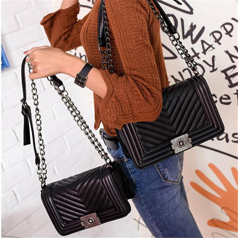 Luxury Crossbody Chain Bag - klozetstyle.com