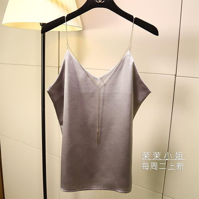 Metal Strapless Top - klozetstyle.com
