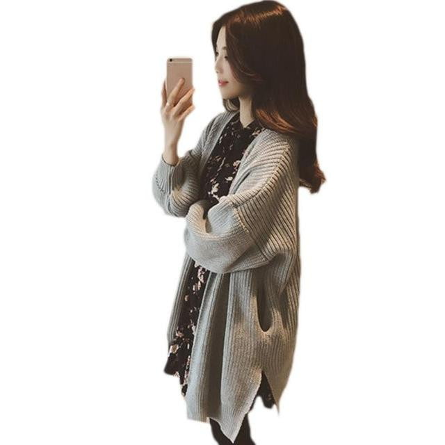 Long Knitted Cardigan - klozetstyle.com