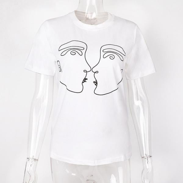 Abstract Couple Summer T Shirt - klozetstyle.com