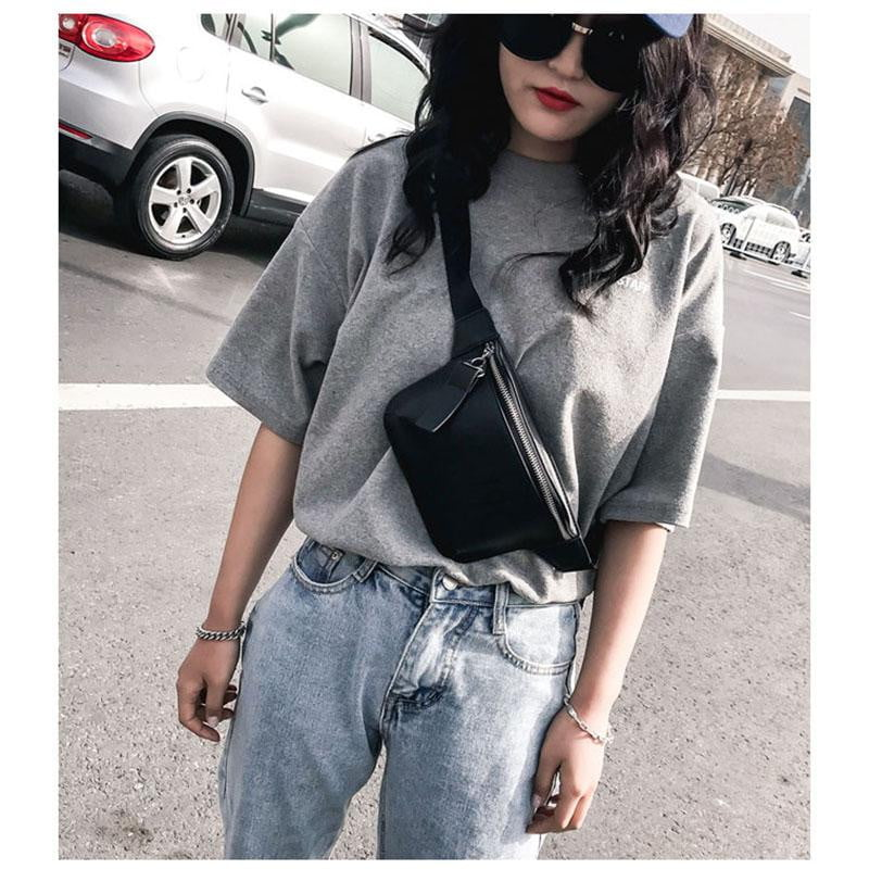Black Leather Waist Bag - klozetstyle.com