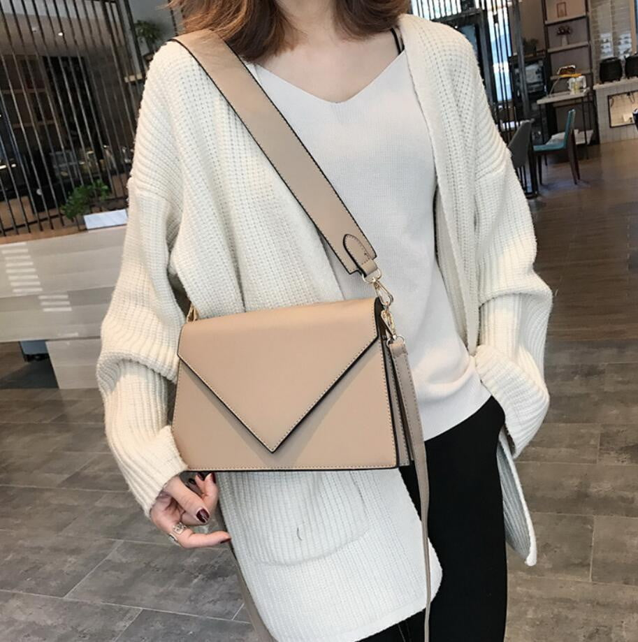 European Style High quality PU Leather Simple Shoulder Square Bag - klozetstyle.com