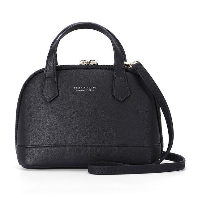 Soft Synthetic Leather Messenger Crossbody Shell Shoulder & Handbag - klozetstyle.com