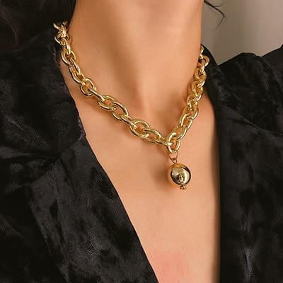 Thick Chain Hollow Multi-layer Necklace - klozetstyle.com
