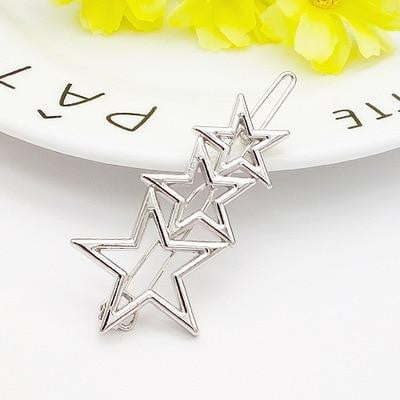 Triangle Moon Circle Pin Metal Geometric Alloy Hair Clip - klozetstyle.com