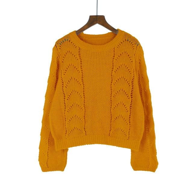 Summer Thin Knitted Pullover Sweater - klozetstyle.com