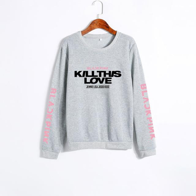 BLACKPINK KILL THIS LOVE Album Letters Sweatshirt - klozetstyle.com