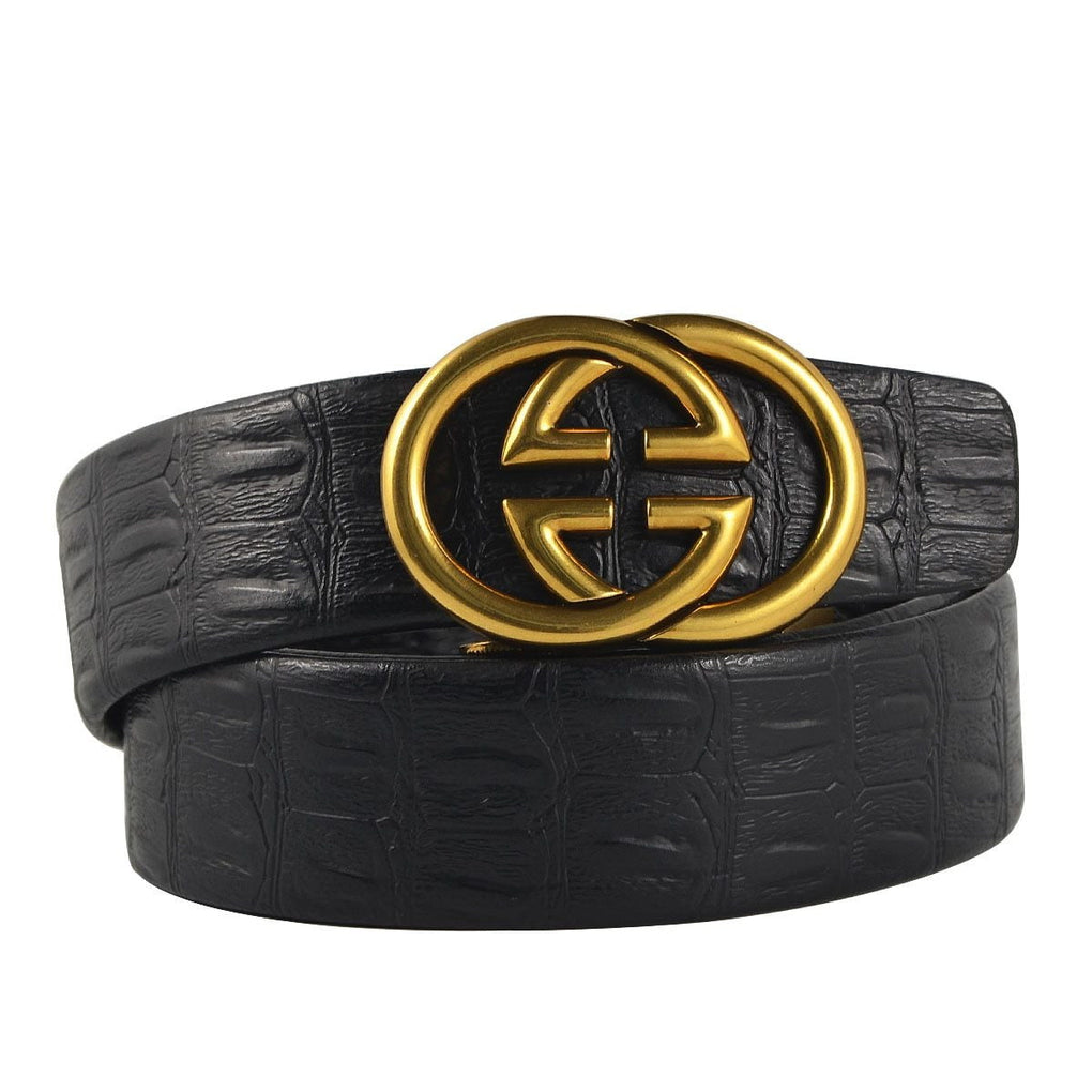 Leather retro buckle Strap belt - klozetstyle.com