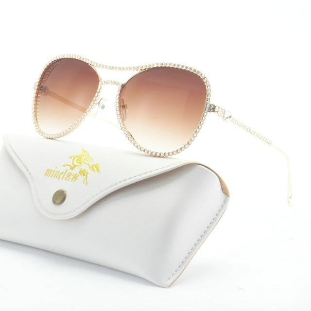Diamond metal Sunglasses - klozetstyle.com