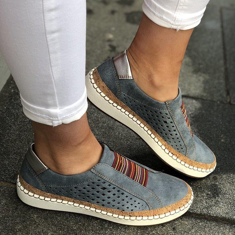 Slip-On Sneaker Comfortable Flats Shoes - klozetstyle.com