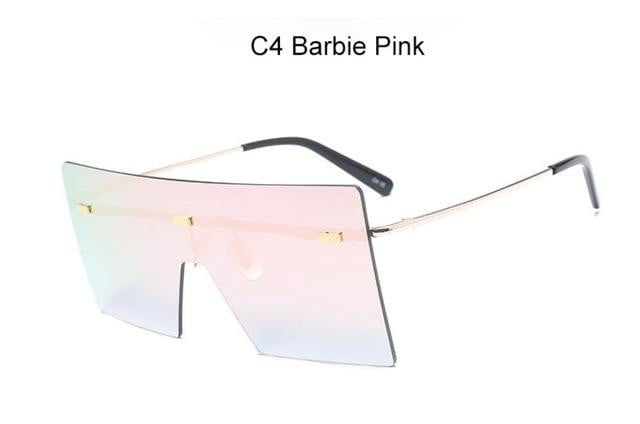 Oversized Retro Vintage Rimless Oculos Shades