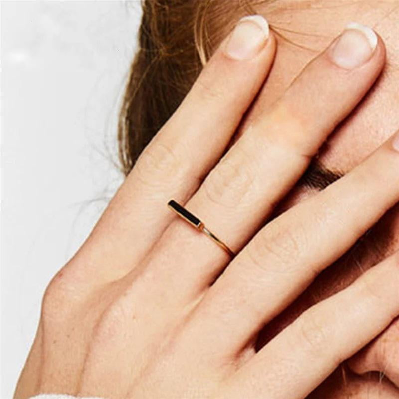 Pure 925 Silver Geometric Stick Simple Ring | Gift Accessory