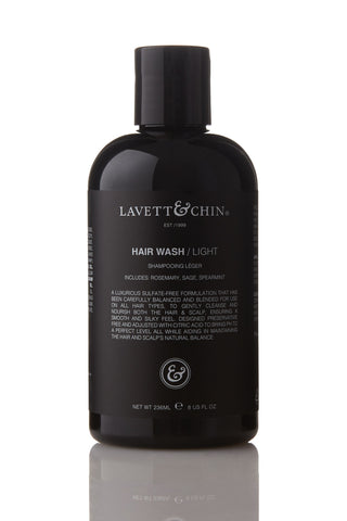 HAIR WASH / LIGHT  .  250 ml - 8  US fl oz.