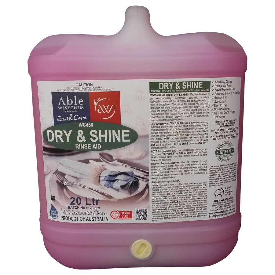 Dry and Shine Dishwasher Rinse Aid