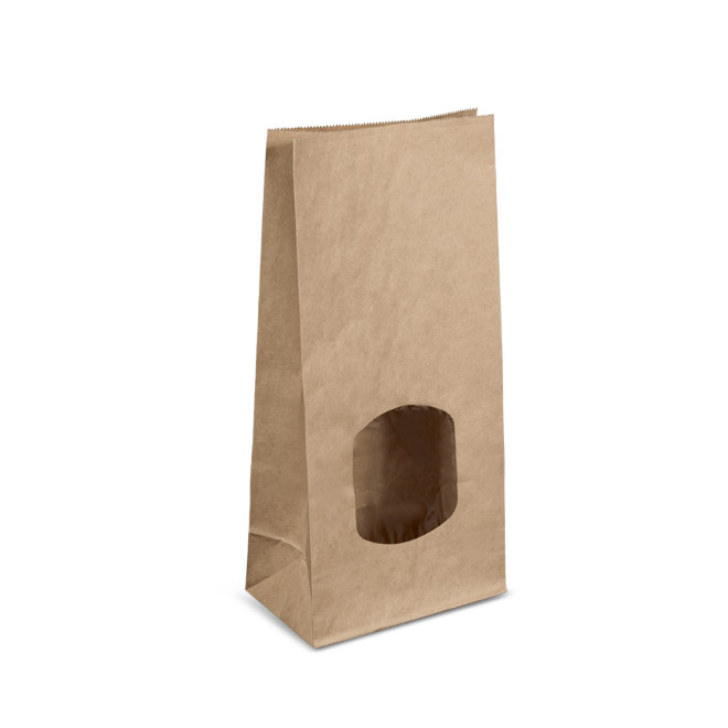 COFFEE / RETAIL BAG WITH WINDOW/TIN TIE