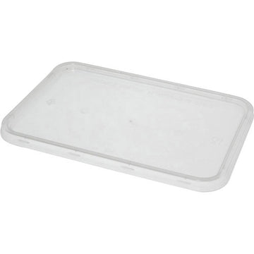 Plastic Takeaway Rectangular Lid